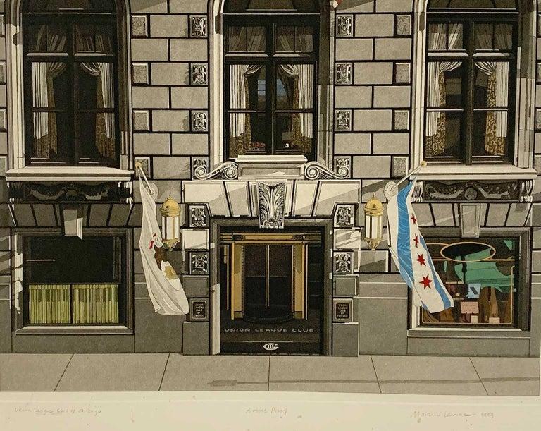 Union League Club of Chicago - Gray Portrait Print by Martin Levine
