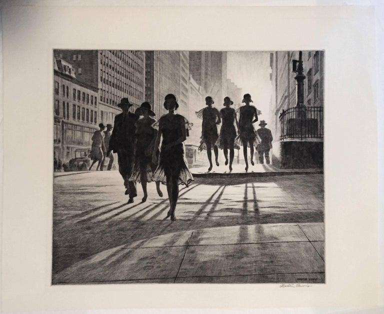 Shadow Dance - American Modern Print by Martin Lewis