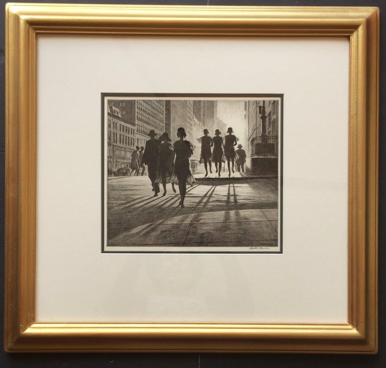 Martin Lewis Figurative Print - Shadow Dance
