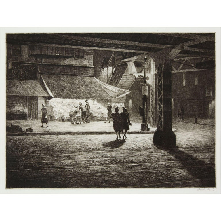 Yorkville Night - Print by Martin Lewis