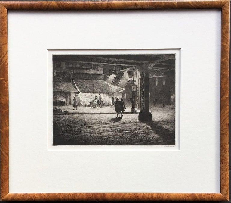 Martin Lewis Landscape Print - Yorkville Night