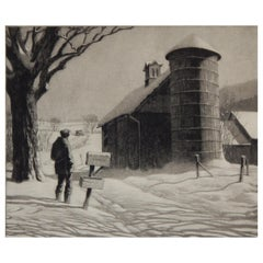 Martin Lewis 20th Century Master Printmaker, Etching, 1933, R.F.D.