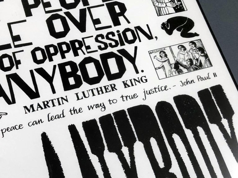 American Martin Luther King, Jr. Sermon on Peace Lithograph by John August Swanson For Sale