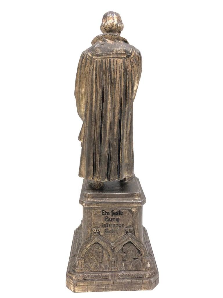 Folk Art Martin Luther Protestant Reformation Statue 1930s Vintage, German For Sale
