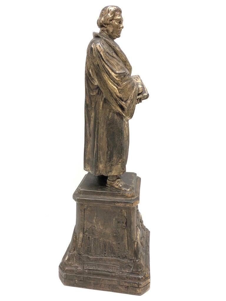 Martin Luther Protestant Reformation Statue 1930s Vintage, German In Good Condition For Sale In Nürnberg, DE