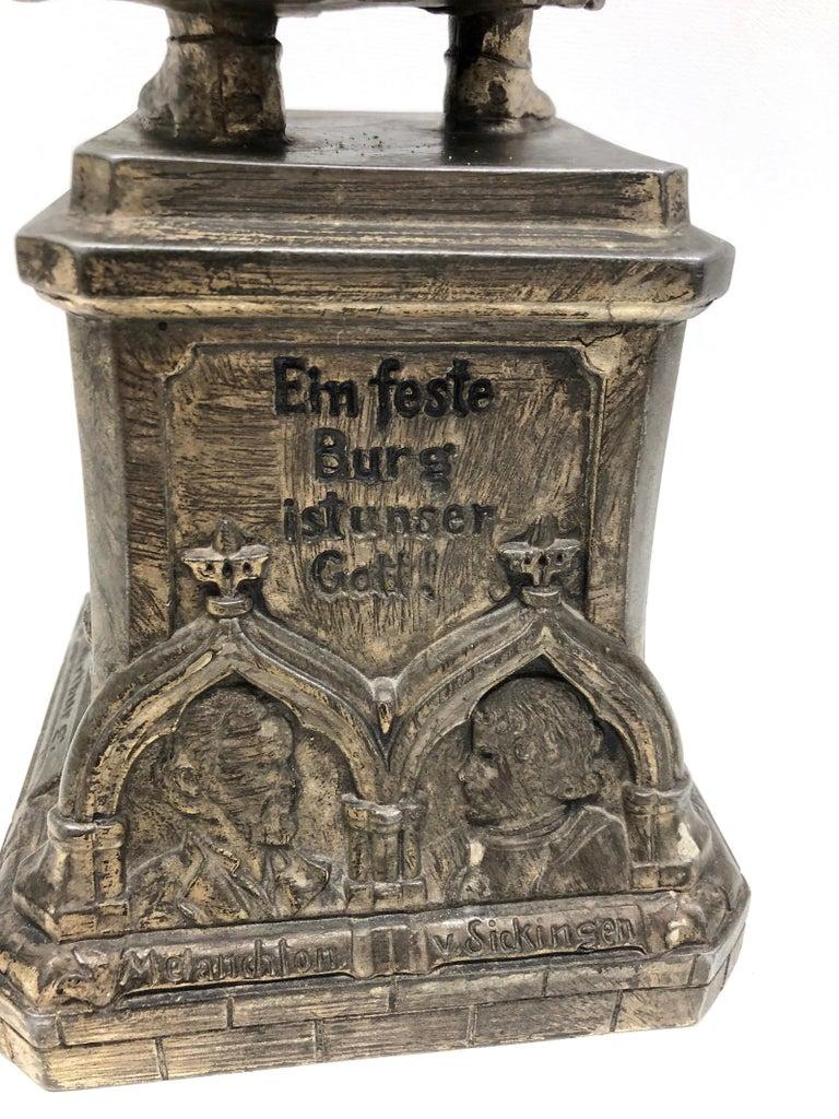 Martin Luther Protestant Reformation Statue 1930s Vintage, German For Sale 2