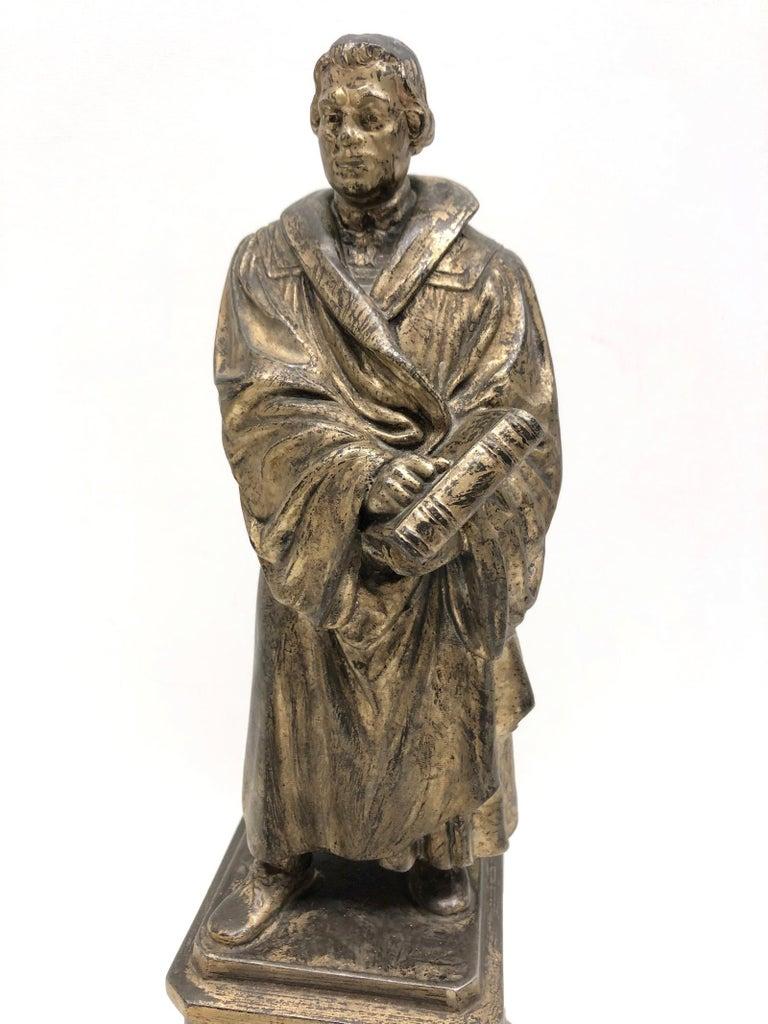 Martin Luther Protestant Reformation Statue 1930s Vintage, German For Sale 3