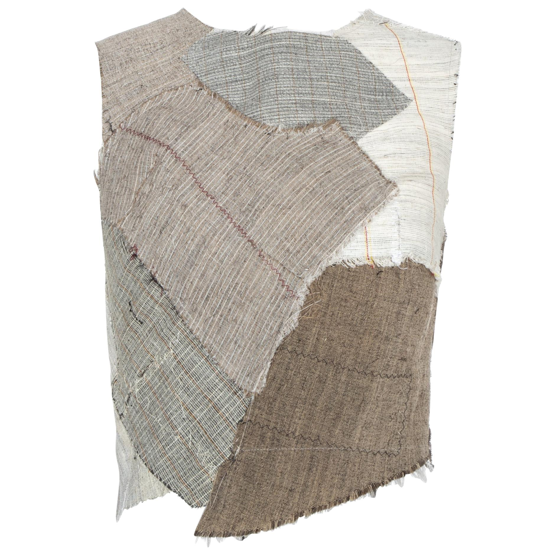 Martin Margiela artisanal corset top made with tailoring canvases, fw 2003