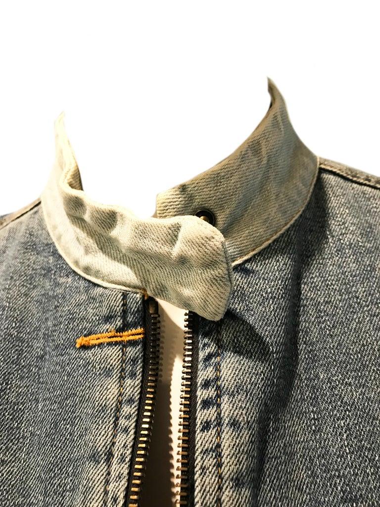 Martin Margiela Artisanal distressed denim jacket  In Good Condition For Sale In Austin, TX