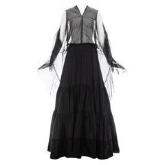 Martin Margiela black nylon maxi dress made with vintage petticoats, ca. 2003