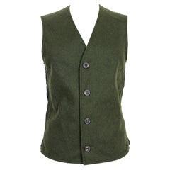 Martin Margiela Green Wool Classic Vest