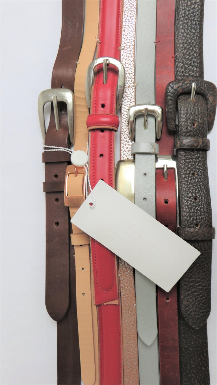Women's Martin Margiela New Artisanal Stacked Leather Belt For Sale
