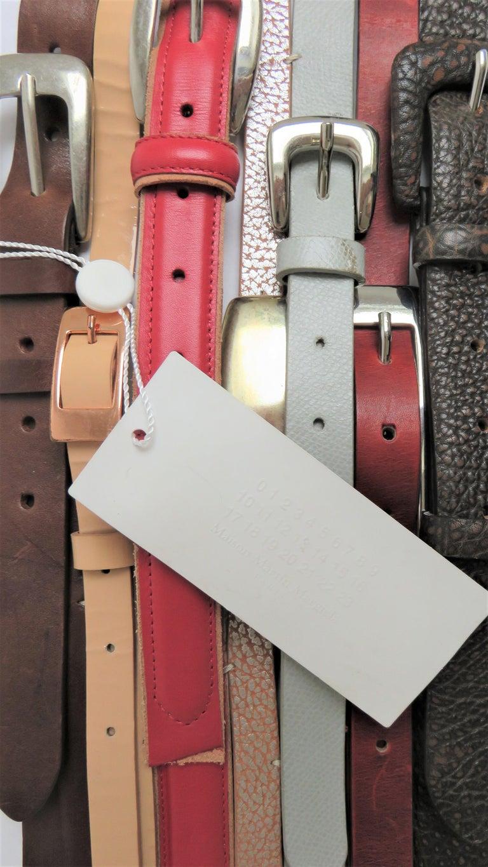 Martin Margiela New Artisanal Stacked Leather Belt For Sale 1