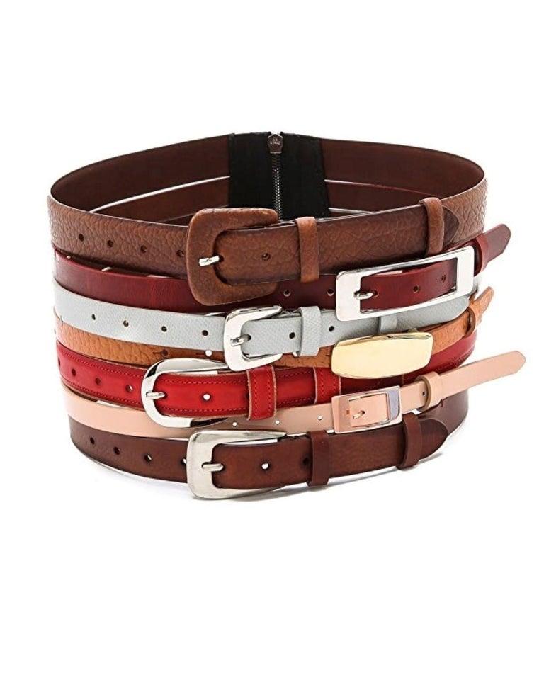 Martin Margiela New Artisanal Stacked Leather Belt For Sale 2