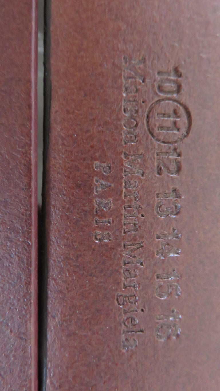 Martin Margiela New Artisanal Stacked Leather Belt For Sale 3
