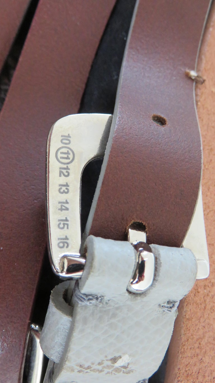 Martin Margiela New Artisanal Stacked Leather Belt For Sale 4