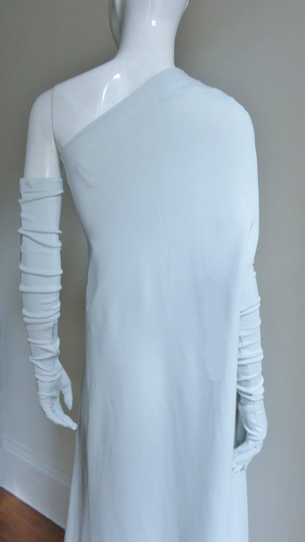 Martin Margiela New One Shoulder Dress and Gloves For Sale 7
