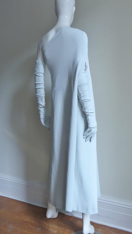 Martin Margiela New One Shoulder Dress and Gloves For Sale 8