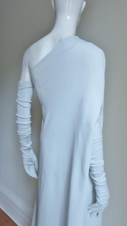 Martin Margiela New One Shoulder Dress and Gloves For Sale 9