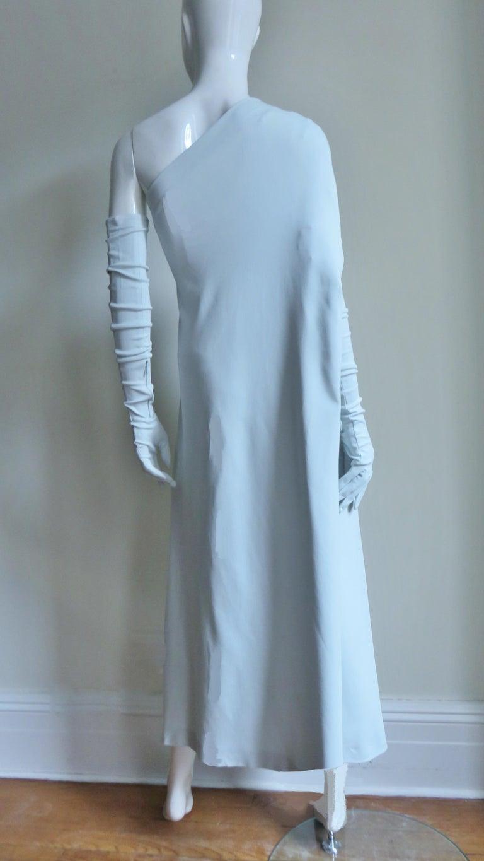 Martin Margiela New One Shoulder Dress and Gloves For Sale 10