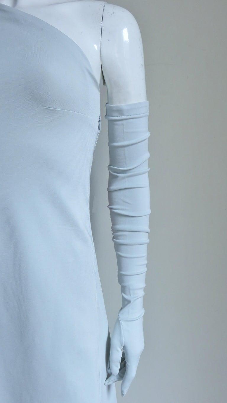 Martin Margiela New One Shoulder Dress and Gloves For Sale 1