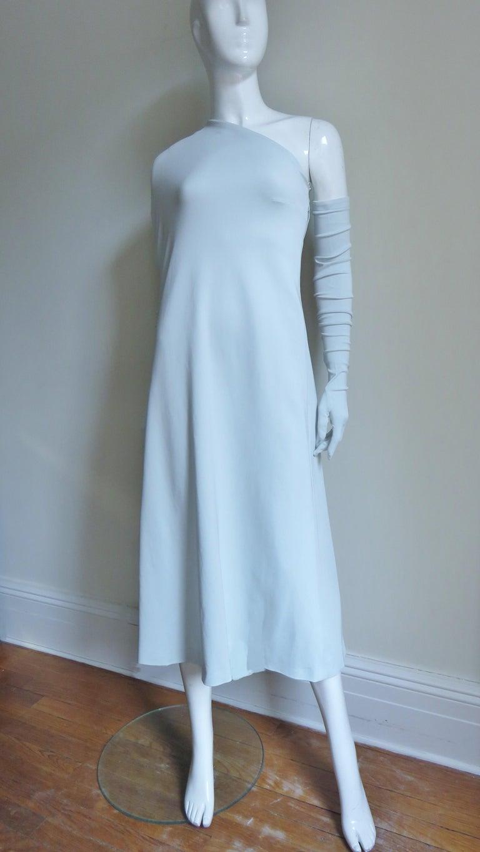 Martin Margiela New One Shoulder Dress and Gloves For Sale 2