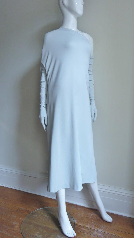 Martin Margiela New One Shoulder Dress and Gloves For Sale 4