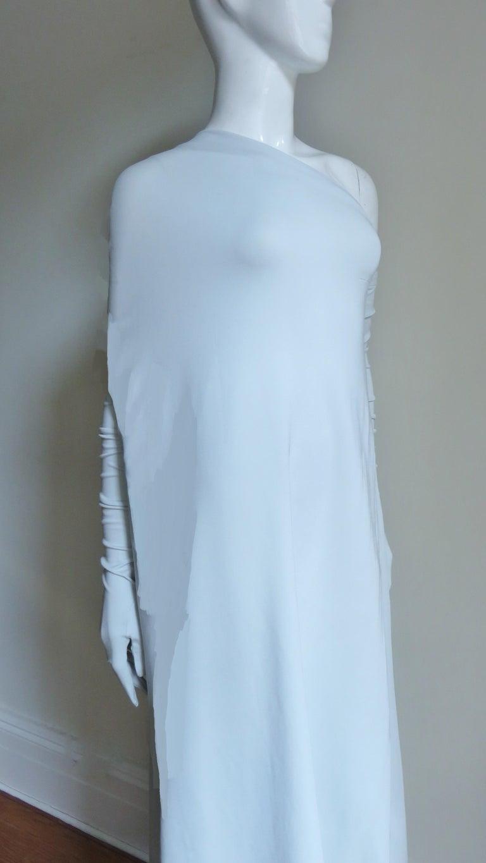 Martin Margiela New One Shoulder Dress and Gloves For Sale 5