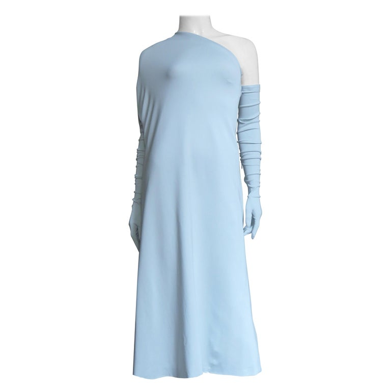 Martin Margiela New One Shoulder Dress and Gloves For Sale