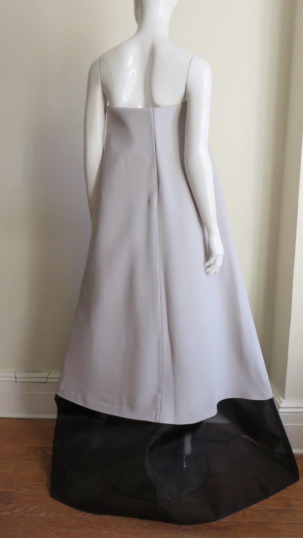 Martin Margiela New Strapless Color Block Dress For Sale 5