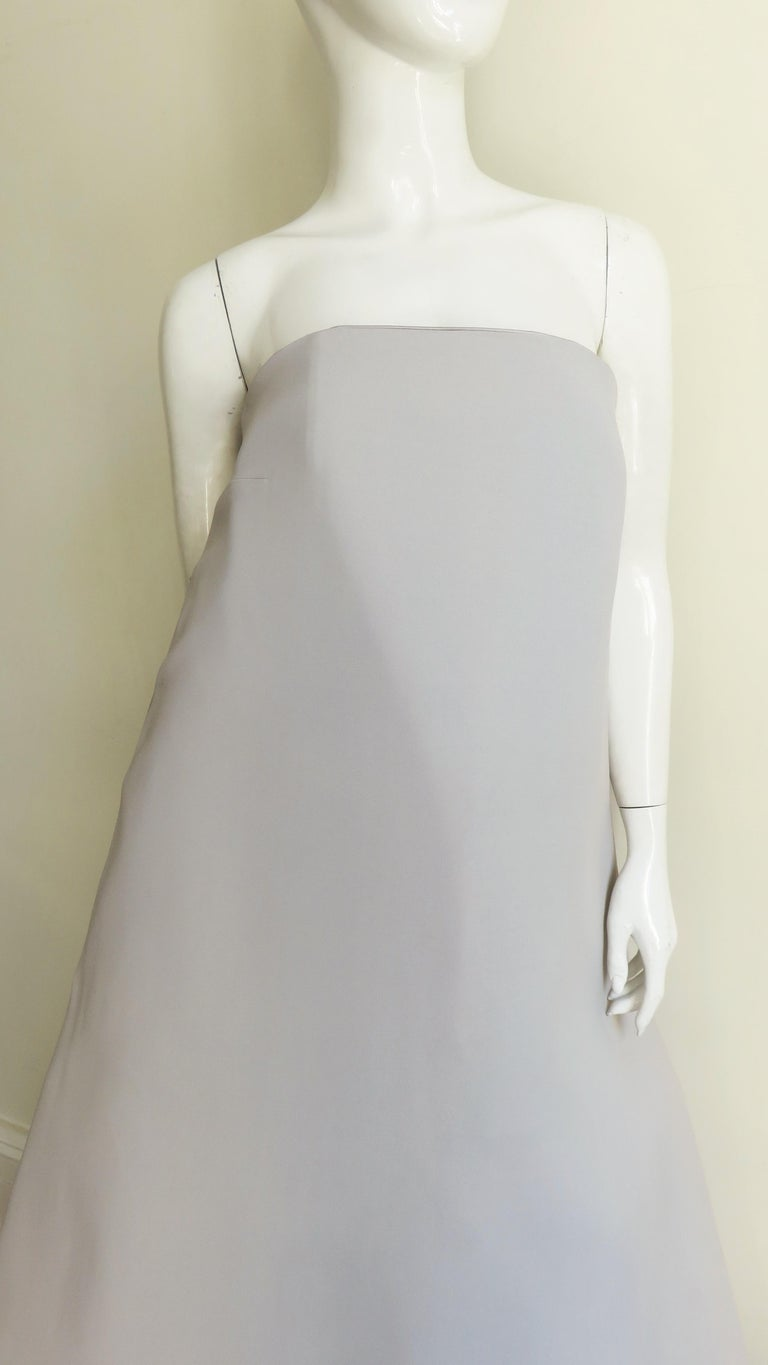 Martin Margiela New Strapless Color Block Dress In Excellent Condition For Sale In Water Mill, NY
