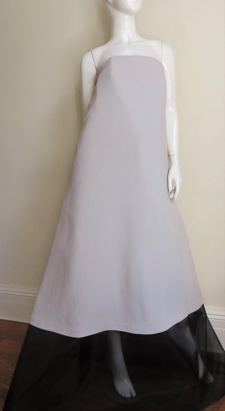 Martin Margiela New Strapless Color Block Dress For Sale 2