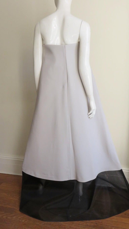 Martin Margiela New Strapless Color Block Dress For Sale 3