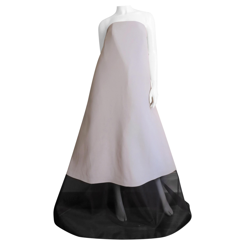 Martin Margiela New Strapless Color Block Dress