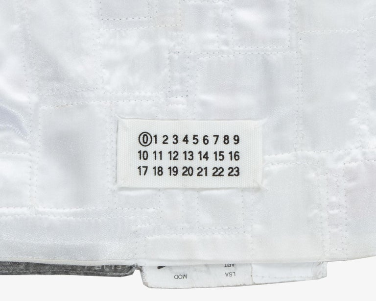 Martin Margiela shirtfront made up of reclaimed vintage labels, ss 2001 For Sale 4