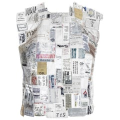 Martin Margiela shirtfront made up of reclaimed vintage labels, ss 2001