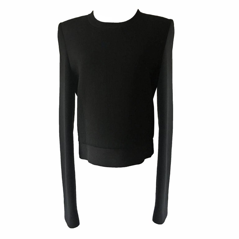 Martin Margiela Square Shoulder Black Sweatshirt