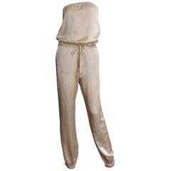 Martin Margiela Strapless Silk Jumpsuit