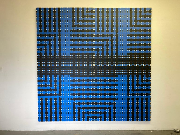 Untitled - Abstract Geometric Mixed Media Art by Martin Pelenur
