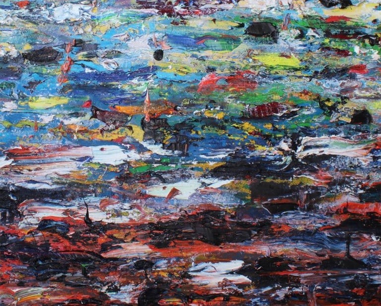 Paysage (Ref 18085) - Abstract Painting by Martin Reyna