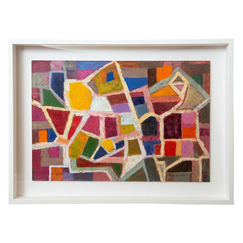 Martin Rosenthal Oil on Paper Work of Art Custom Framed Vintage