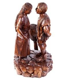 18'' Al son de mi tierra / Woodcarving Sculpture Mexican Folk Art