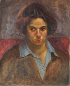 Portrait of a Woman, Oil Painting, Circa 1930s