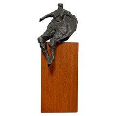 Martin Sumers Abstract Figurative Modernist Bronze Sculpture, circa 1970s