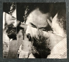 Vintage Abstract Expressionist Hyman Bloom Photo Collage Assemblage Photograph