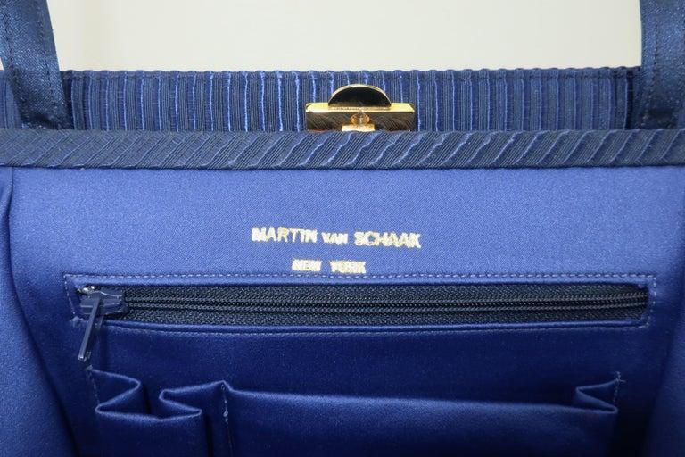 Martin Van Schaak Royal Blue Fabric Handbag, 1960's For Sale 7