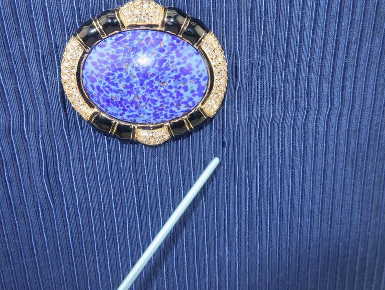 Martin Van Schaak Royal Blue Fabric Handbag, 1960's For Sale 11