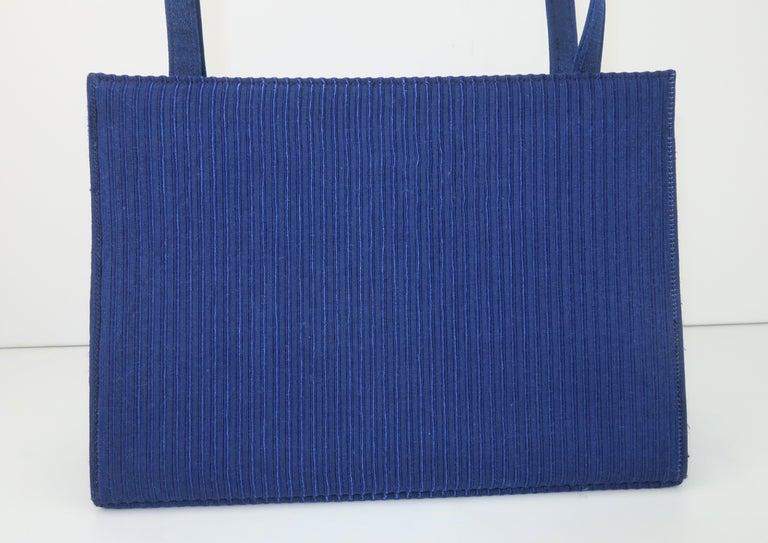 Martin Van Schaak Royal Blue Fabric Handbag, 1960's For Sale 4
