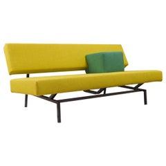 Martin Visser BZ53 Sofa in New Yellow Wool and Black Frame 1970s Spectrum