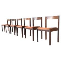 Martin Visser Dining Chairs Wenge 't Spectrum the Netherlands, 1960
